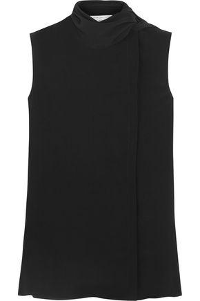 VICTORIA BECKHAM Pussy-bow silk-georgette top