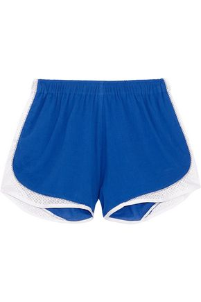 KOZA Aina mesh-trimmed cotton-gauze shorts