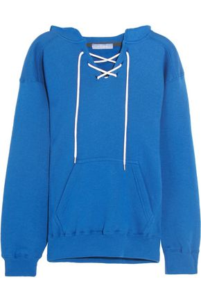 KOZA Surfy Surfy appliquéd cotton-blend jersey hooded top
