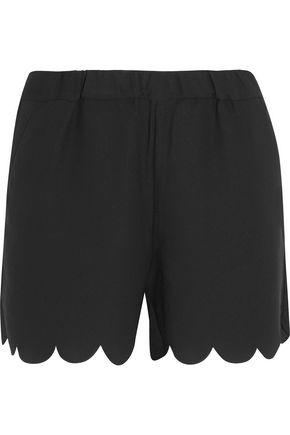 MADEWELL Scalloped crepe shorts