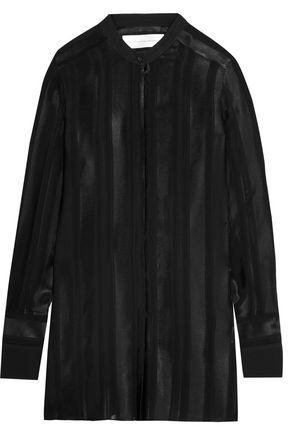 VICTORIA, VICTORIA BECKHAM Satin and silk-chiffon blouse