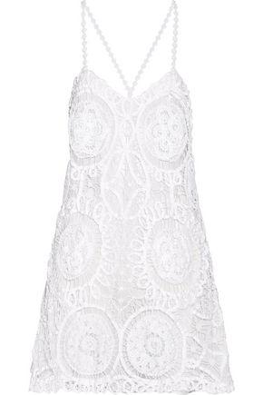 ANJUNA Emanuela crocheted cotton and silk-blend mini dress