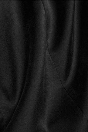 JOSEPH Silk-satin and silk-blend jersey top