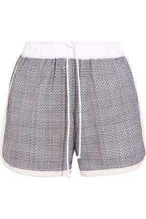 SACAI Laser-cut Prince of Wales checked cotton-jacquard shorts