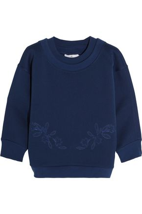 ADIDAS by STELLA McCARTNEY Embroidered jersey sweatshirt