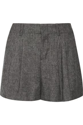 ALICE + OLIVIA Eloise pleated woven shorts