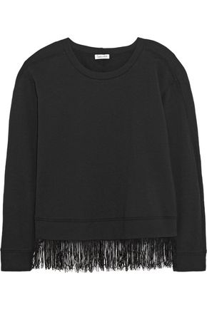 SPLENDID Fringe trim cotton-blend top