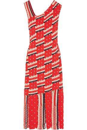 TABULA RASA Anat fringe-trimmed macramé cotton dress