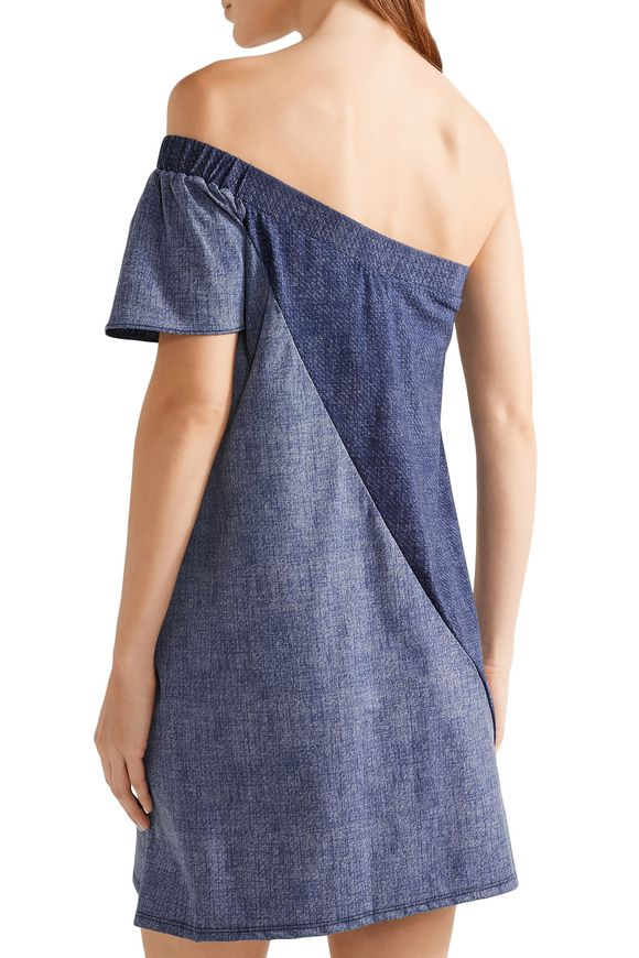 Cleo off-the-shoulder stretch-jersey mini dress | FLAGPOLE | Sale up to 70%  off | THE OUTNET