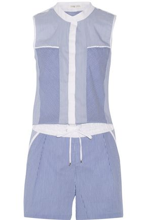 OHNE TITEL Striped cotton-blend playsuit