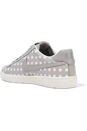 NIKE Tennis Classic Ultra polka-dot embroidered canvas sneakers