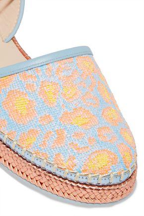 SOPHIA WEBSTER Juana leather-trimmed jacquard espadrilles