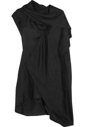 RICK OWENS Draped satin top