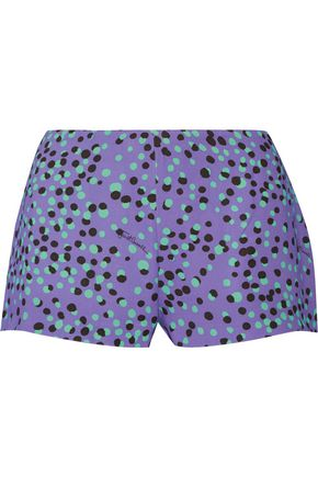 JUST CAVALLI Printed cady shorts
