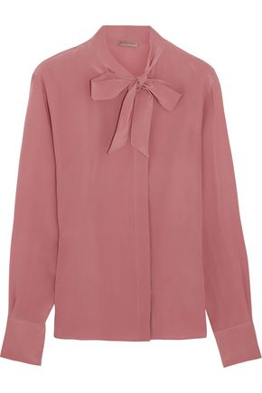 BOTTEGA VENETA Pussy-bow silk crepe de chine blouse