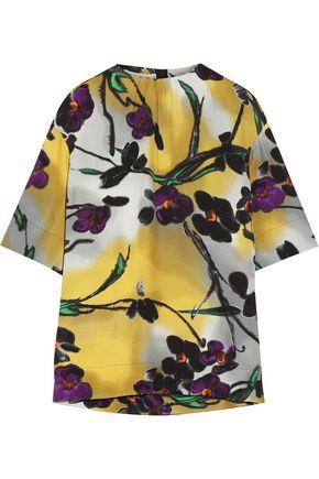 MARNI Floral-print crepe top