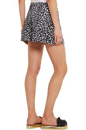 BOUTIQUE MOSCHINO Leopard-print cotton-blend poplin shorts
