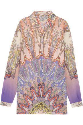 ETRO Paisley-print silk-chiffon shirt