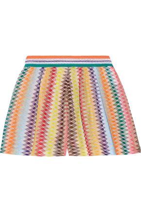MISSONI Mare Rhombus metallic crochet-knit shorts