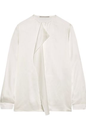 STELLA McCARTNEY Goldie draped silk-charmeuse top