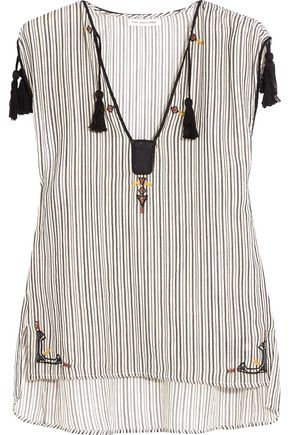 ISABEL MARANT ÉTOILE Judith embroidered striped cotton top