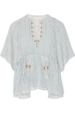 ISABEL MARANT ÉTOILE Joy embroidered striped cotton top