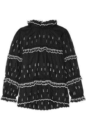 ISABEL MARANT ÉTOILE Daniela embroidered linen top