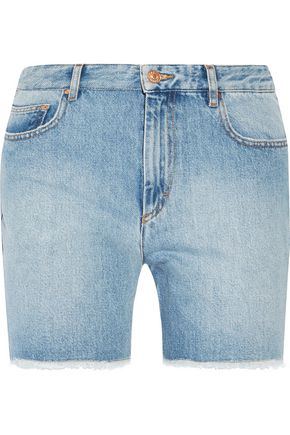 ISABEL MARANT ÉTOILE Cedar frayed denim shorts