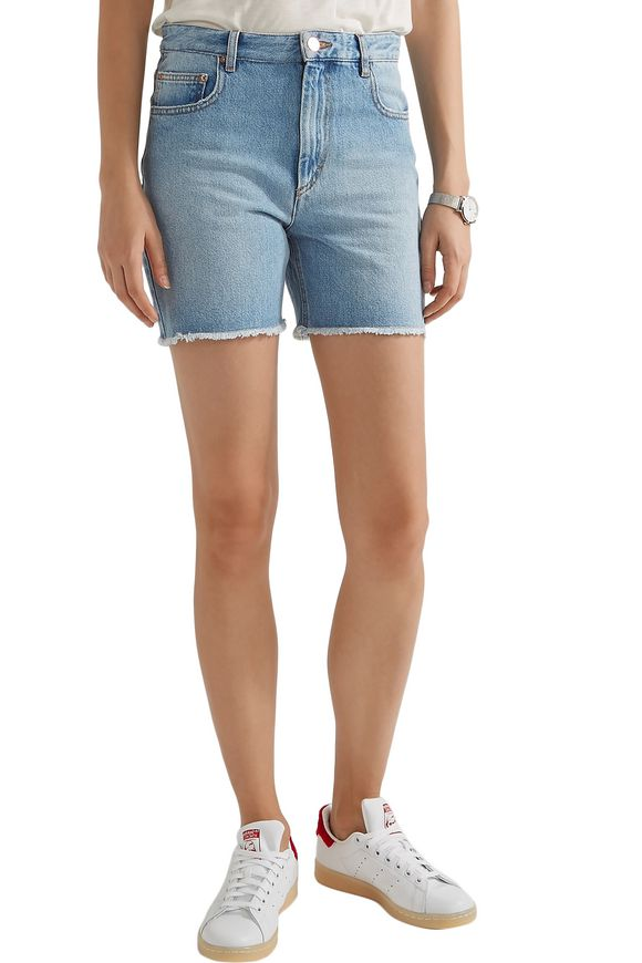 Cedar frayed denim shorts | ISABEL MARANT ÉTOILE | Sale up to 70% off | THE  OUTNET