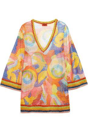 MISSONI Mare metallic crochet-knit kaftan