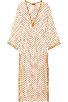 MISSONI Mare lace-up metallic cotton-blend kaftan