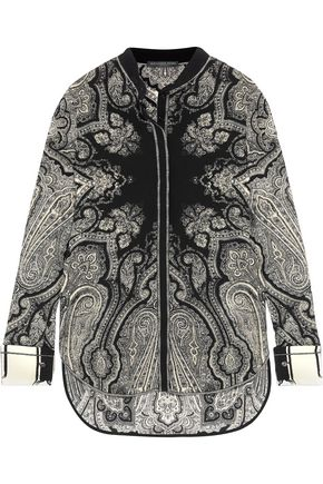 ALEXANDER MCQUEEN Paisley-print silk crepe de chine blouse