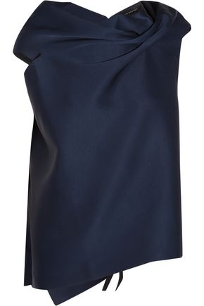 ROLAND MOURET Eugene draped satin blouse