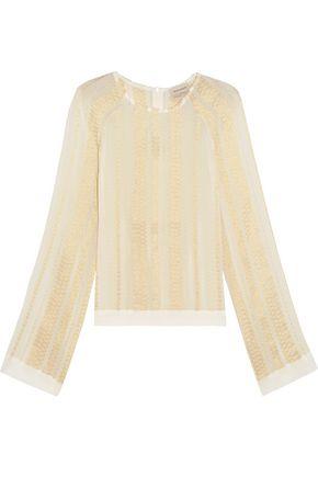 ZEUS + DIONE Melissa metallic silk-blend jacquard blouse