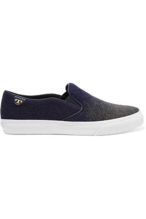 TORY BURCH Stardust ombré felt slip-on sneakers