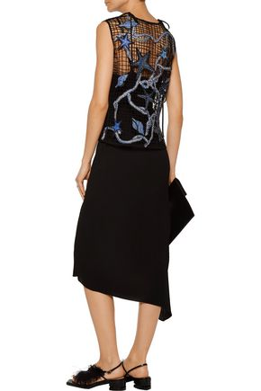 EMILIO PUCCI Embroidered net top