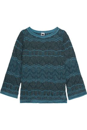 M MISSONI Metallic crochet-knit sweater
