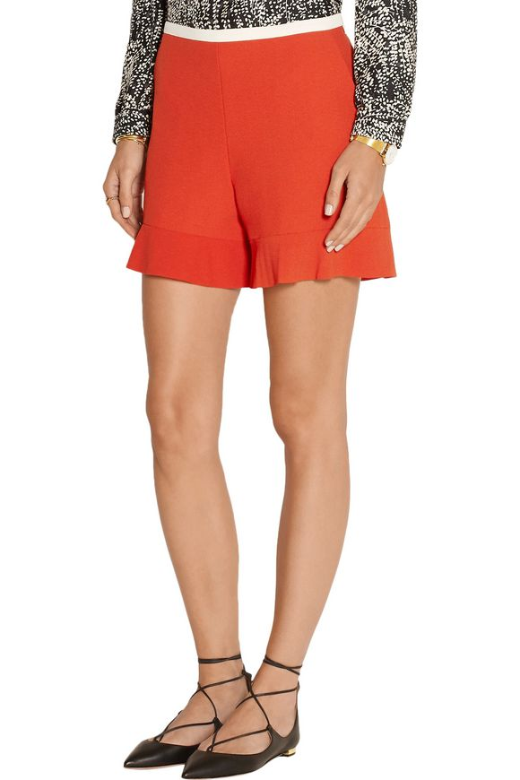 Fluted stretch-crepe shorts   SEE BY CHLOÉ   Sale up to 70% off   THE OUTNET