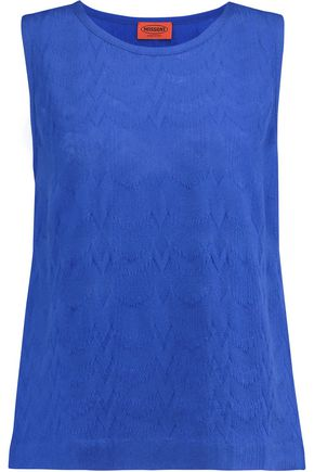 MISSONI Crochet-knit wool tank
