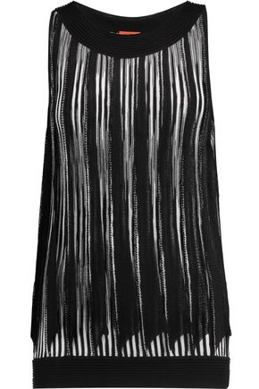 MISSONI Pleated stretch-knit top