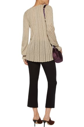 MISSONI Ribbed crochet-knit top