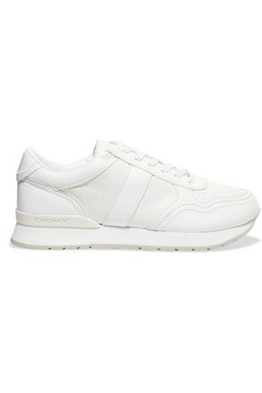 DKNY Jamie textured-leather sneakers