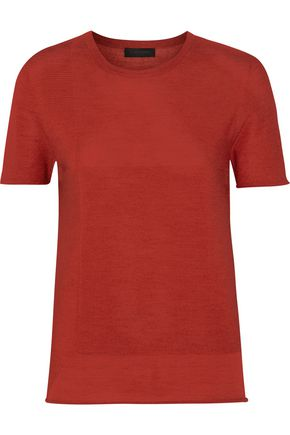 Wool, cashmere and silk-blend T-shirt