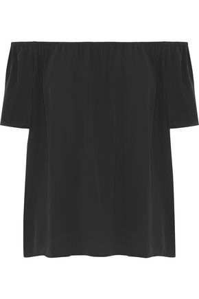 Amesti B off-the-shoulder silk top