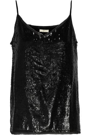 JOIE Gowa sequined georgette top