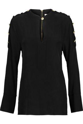 PIERRE BALMAIN Washed-silk top