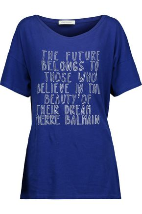 PIERRE BALMAIN Printed cotton-jersey T-shirt