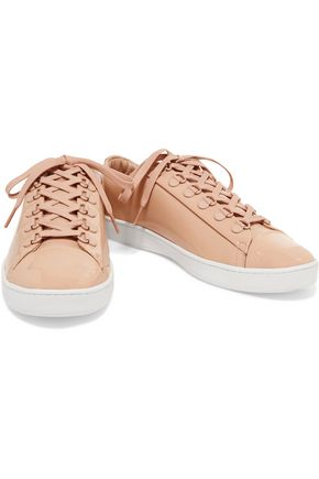DKNY Brayden patent-leather sneakers