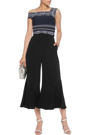 PETER PILOTTO Embroidered cropped stretch-knit top