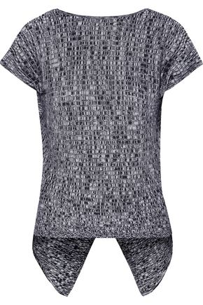 AUTUMN CASHMERE Ribbed-knit cotton top